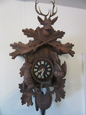 Vintage German Regula Eurmca Trading Black Forest Hunting CucKoo Clock
