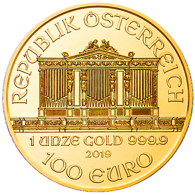 2019 100 Euro Austrian Gold Philharmonic .9999 1 oz Brilliant Uncirculated