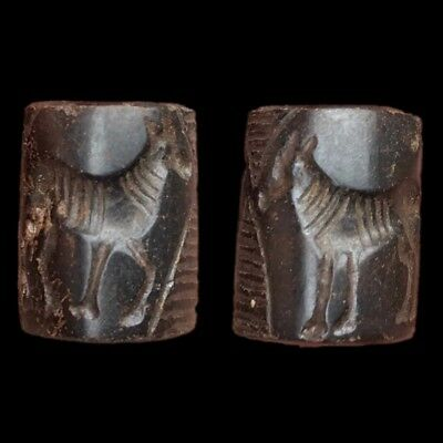 Very Rare Ancient Near Eastern Cylinder Seal 300 Bc (8)