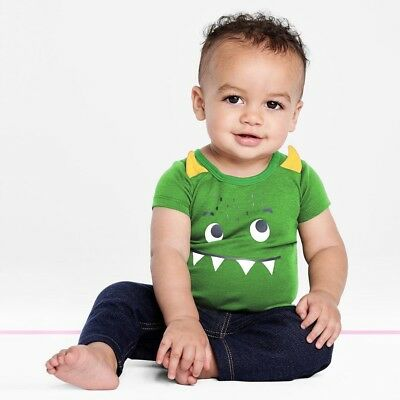 Newborn Kids Baby Boy Cartoon Printing Cotton Lovely Bodysuit Romper Jumpsuit