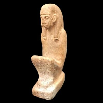 Beautiful Ancient Huge Egyptian Statuette 300 Bc (2)