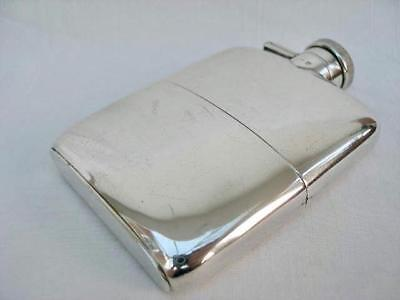 Fine Quality All Sterling Silver Hip Flask By William Neale Birmingham 1915.