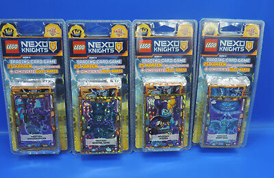 Lego® Nexo Knights 2 Trading Card Game 4 Blister + 100 Karten + 4 Gold