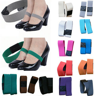 Durbale Colored Elastic Band Shoe Strap Solid Color Shoelace For High Heel Shoes