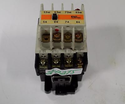 Fuji Electric 4Nc0R0 Type Sc-4-1 Contactor W/Auxiliary Contact Sz-A40