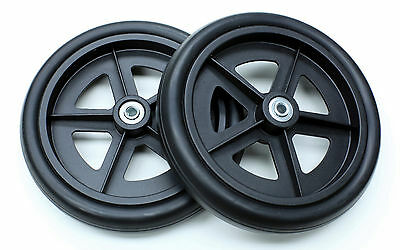"Rollator Walker 8"" Caster Wheel Rollators Parts Black C4608-BK 2 pcs NEW"