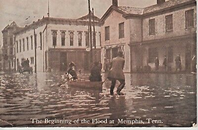 1930's The Beginning of the Flood at Memphis, TN Tennessee PC