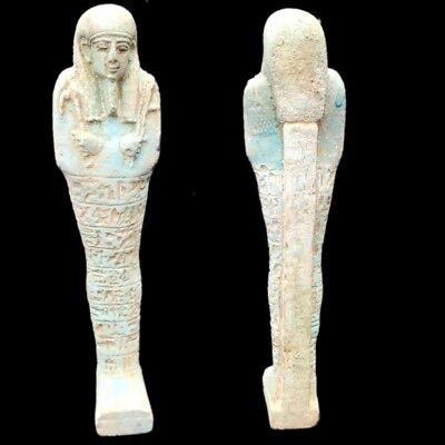 Egyptian Hieroglyphic Shabti, Late Period 664 - 332 Bc (3) Large 17.5 Cm Tall !!