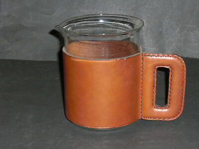 Seltener Cognac Leather Pitcher von CARL AUBÖCK