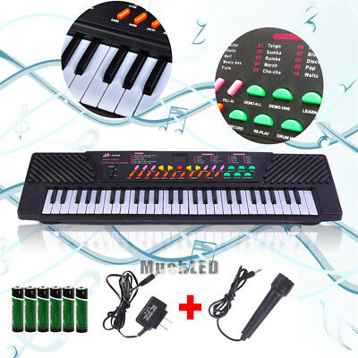 Full Size 54 Key Music Digital Electronic Piano Keyboard with Microphone for Kid