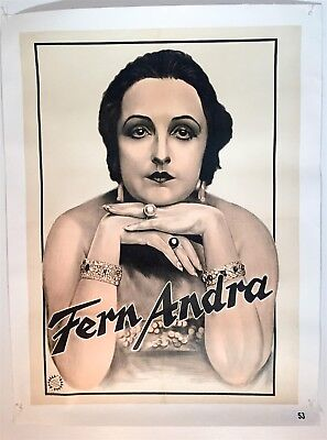 Vintage Poster -GERMAN ACTRESS FERN ANDRA- Authentic Adolph Friedlander Poster