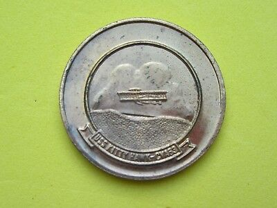 """Souvenir """"e"""" First Guided Missile Attack Aircraft Carrier~Uss Kitty Hawk Coin~#9"""