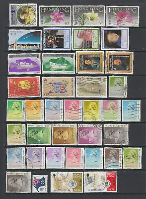 Hong Kong 1985 - 1999 fine used collection, 108 stamps