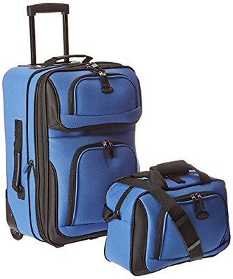 US Traveler Rio Two Piece Expandable Carryon Luggage Set (15Inch and 21Inch)