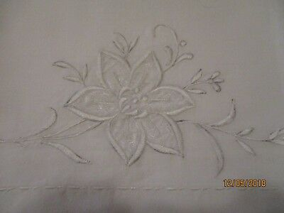 """Vintage  pillowcases with white embroidery 31""""x20"""""""