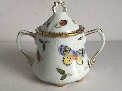 Vintage ANNA WEATHERLEY Porcelain Covered Sugar Bowl SPRING IN BUDAPEST