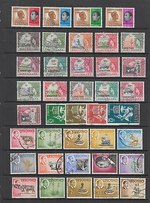 Lesotho fine used collection , 127 stamps
