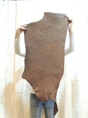 HEAVY BUFFALO Bison Leather Hide for Native Craft Moccasins Flint Knapping Armor