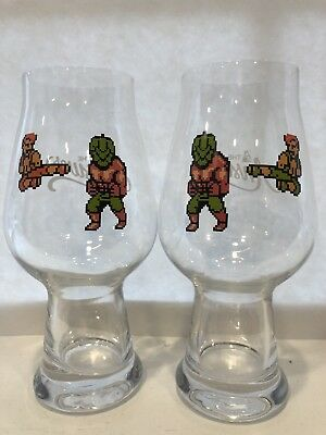 The Answer Double Dragon Glass Set - NEW Craft Beer, Glassware, Collectible