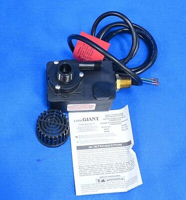 Little Giant PE-1YSA Compact Submersible Pump 115V Voltage 1/125 HP