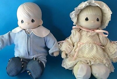 Precious Moments Kristy & Timmy Porcelain Doll Set