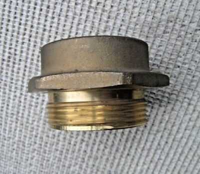 "FIRE HOSE HYDRANT ADAPTER Brass Hex Italy 3""M x 2-5/8""F"