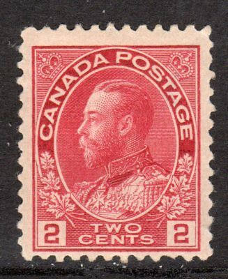 Canada 1911 King George V -- Two Cents Carmine