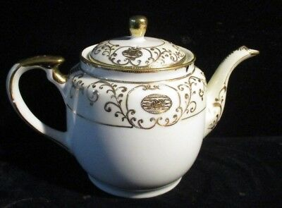 Vintage Teapot Hand Painted Gold Encrusted SNB Japan