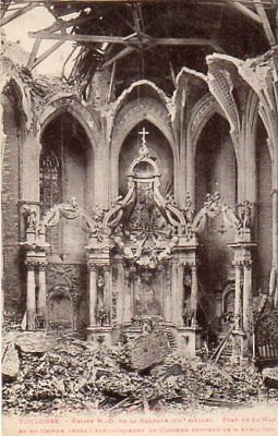31.toulouse..cpa..1926..eglise De La Dalbade Effondree .......lot A355