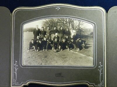 Vtg Antique Utter Studio PHOTO Superior Nebraska 1930 Football Team Shark Eaters