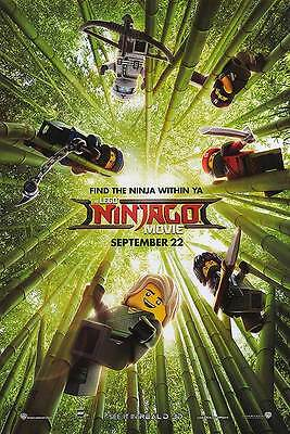 Lego Ninjago - original DS movie poster - 27x40 D/S 2017 Advance B