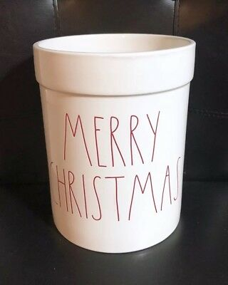 Rae Dunn MERRY CHRISTMAS Crock Canister Utensil Holder