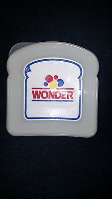 WONDER BREAD Sandwich Keeper School LUNCH BOX Snack Plastic CONTAINER with lid