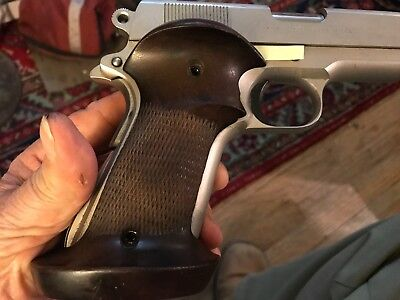 VINTAGE CUSTOM COLT 1911a1 / Commander Checkered Target Grips Ser# 33 Right  Hand