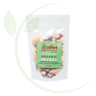 2DIE4 LIVE FOODS - Activated Organic Brazil Nuts  120g