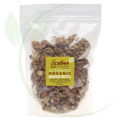 2DIE4 LIVE FOODS - Activated Organic Mixed Nuts Activated with Fresh Whey 600g