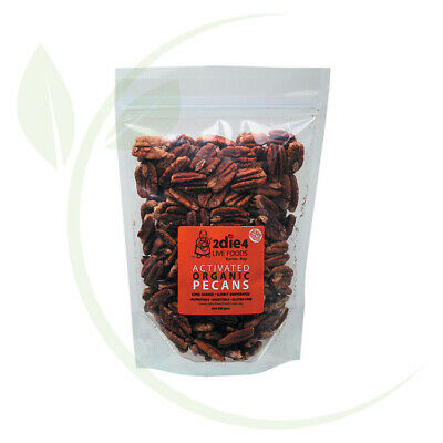 2DIE4 LIVE FOODS - Activated Organic Pecans Activated with Fresh Whey 300g