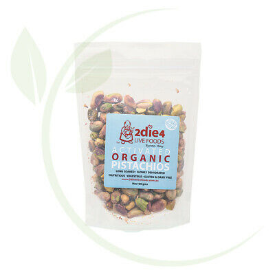 2DIE4 LIVE FOODS - Activated Organic Pistachios  100g