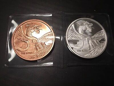 Aztec 1oz Silver & Copper Rounds Coin| World of Dragons - #1 of 6 in Series