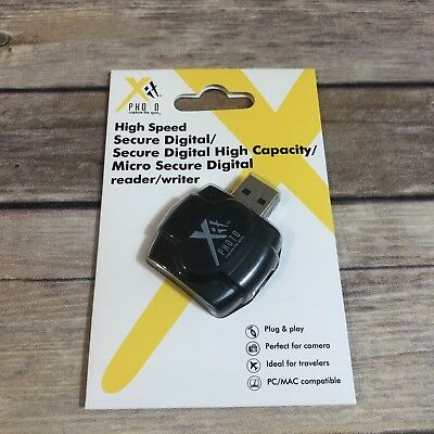 XIT High Speed Secure Digital USB /SDHC/Micro SD Card Reader/Writer