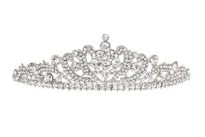 Bridal Floral Rhinestone Crystal Prom Wedding Crown Tiara 71060
