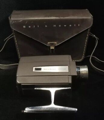 Movie Camera Bell & Howell Autoload Super 8 Optronic Eye 8mm With Case