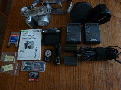 Canon G6 with accessories  - huge bundle! -