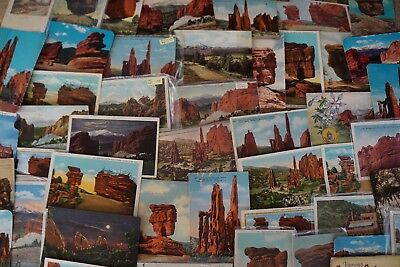 Vintage Postcards GARDEN OF THE GODS Lot 52 Card Some Dated 1908 Colorado