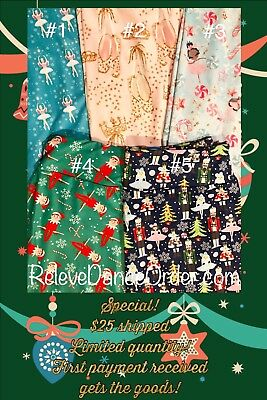 Christmas Holiday Print Leggings Buttery Soft ONE SIZE Child L/XL