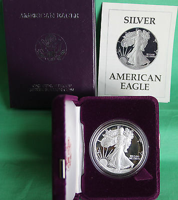 1987 AMERICAN SILVER EAGLE PROOF DOLLAR US Mint ASE Coin with Box and COA