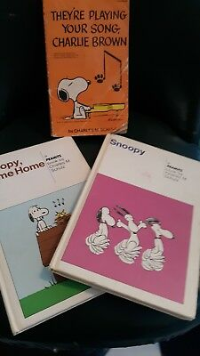 Lot of 3 books Vintage Snoopy, Come Home Peanuts Charlie Brown Charles M. Schulz