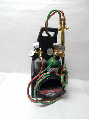 Lincoln Electric Port-A-Torch Kit Cutting Welding Oxygen Acetylene Tanks
