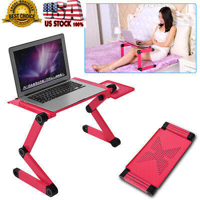 DIY Angle Adjustable Notebook laptop Desk Aluminum Table Stand Bed Mouse Tray US