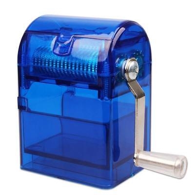 Hand Crank Grinder Crusher Tobacco Herb Cutter Shredder with Storage Case Blue